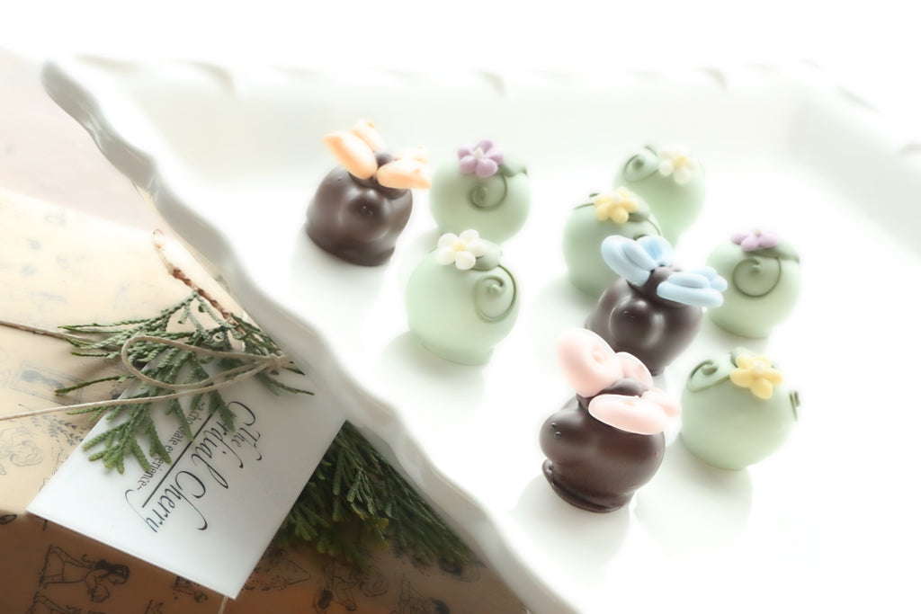 Chocolate Truffles ~ 9 Piece Gift ~ Butterflies and Blossoms
