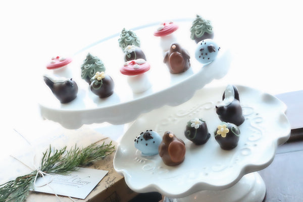 Chocolate Truffles ~ 16 Piece Gift ~ Summer Woodland