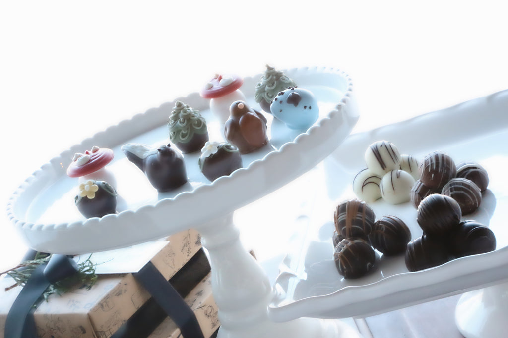Chocolate Truffles ~ 2 Tier Gift Tower ~ Summer Woodland