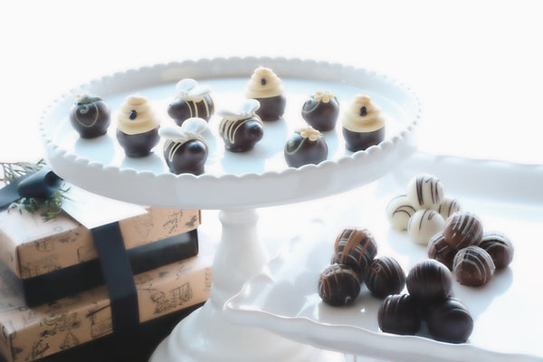Chocolate Truffles ~ 2 Tier Gift Tower ~ It's the Bee's Knees