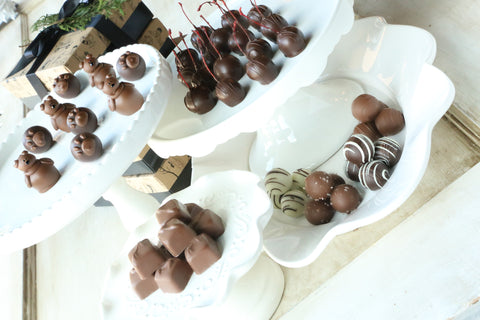 Chocolate Truffles ~ 4-Tier Gift Tower ~ Teddy Bears and Paws