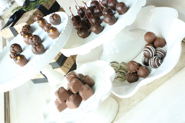 Chocolate Truffles ~ 4-Tier Gift Tower ~ Puppies and Paws