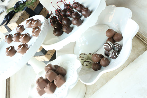 Chocolate Truffles ~ 4-Tier Gift Tower ~ Footballs