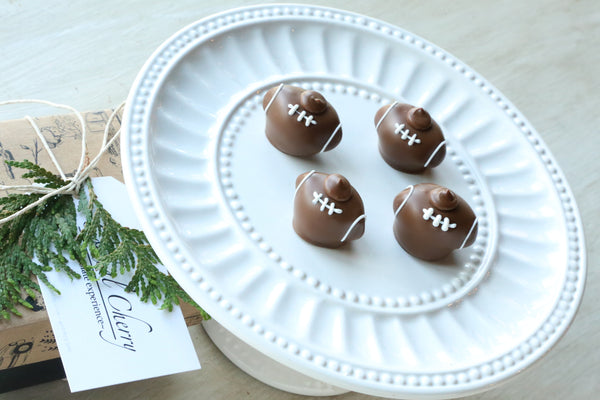 Chocolate Truffles ~ 4 Piece Gift ~ Footballs