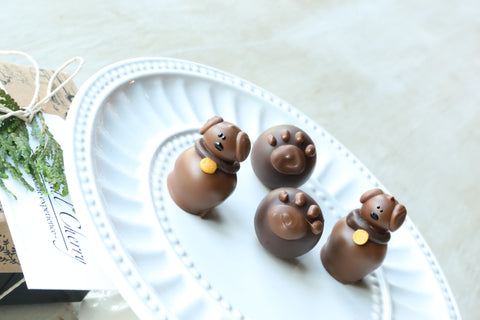 Chocolate Truffles ~ 4 Piece Gift ~ Puppies and Paws