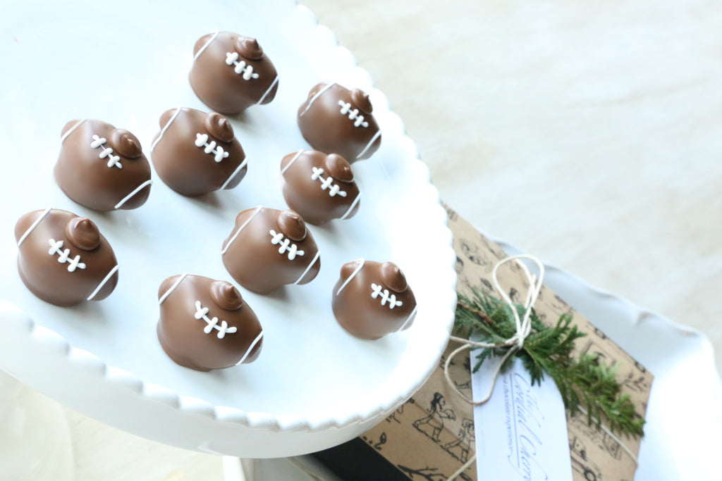 Chocolate Truffles ~ 9 Piece Gift ~ Footballs