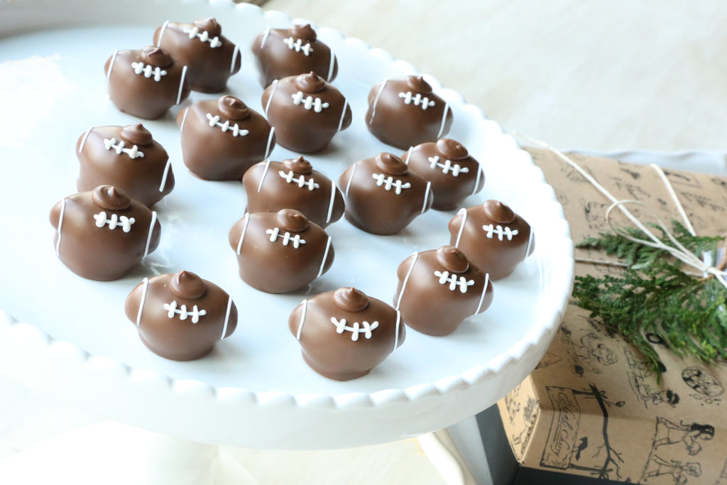 Chocolate Truffles ~ 16 Piece Gift ~ Footballs