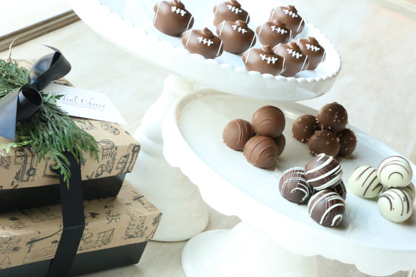 Chocolate Truffles ~ 2-Tier Gift Tower ~ Footballs