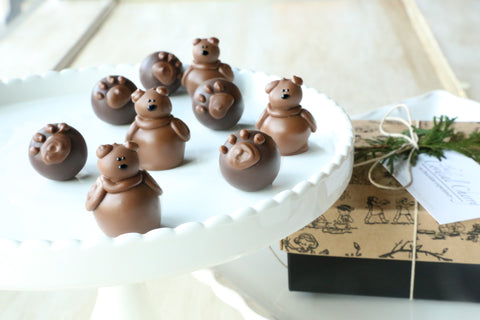 Chocolate Truffles ~ 9 Piece Gift ~ Teddy Bears and Paws