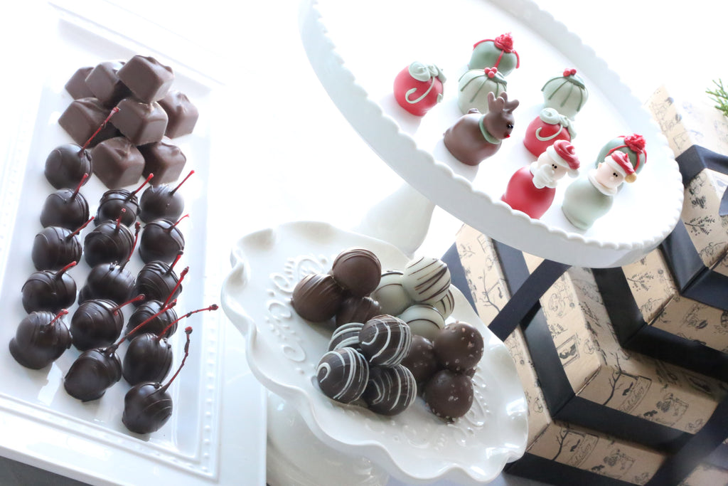 Chocolate Truffles ~ 4-Tier Gift Tower ~ Christmas Eve