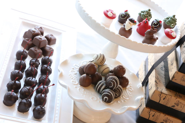Chocolate Truffles ~ 4-Tier Gift Tower ~ Woodland Christmas