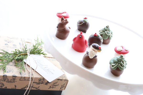 Chocolate Truffles ~ 9-Piece Gift ~ Woodland Christmas
