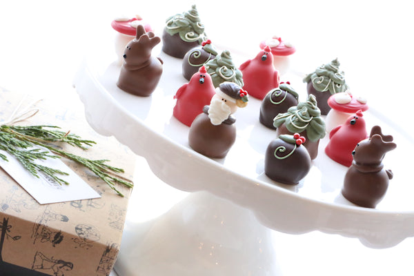 Cordial Cherries ~ 16-Piece Gift ~ Woodland Christmas