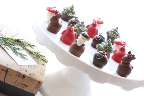 Chocolate Truffles ~ 16-Piece Gift ~ Woodland Christmas