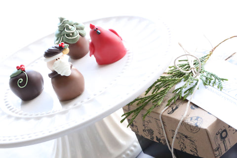 Chocolate Truffles ~ 4-Piece Gift ~ Woodland Christmas