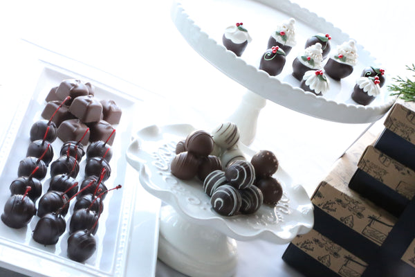 Chocolate Truffles ~ 4-Tier Gift Tower ~ Christmas Cakes