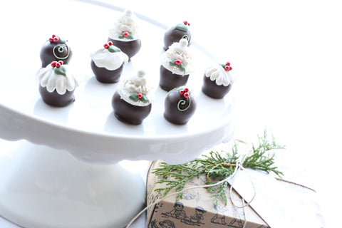 Chocolate Truffles ~ 9-Piece Gift ~ Christmas Cakes