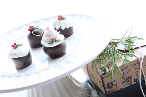 Chocolate Truffles ~ 4-Piece Gift ~ Christmas Cakes