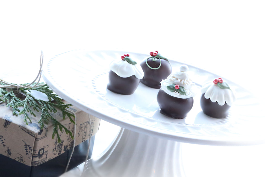 Cordial Cherries ~ 4-Piece Gift ~ Christmas Cakes