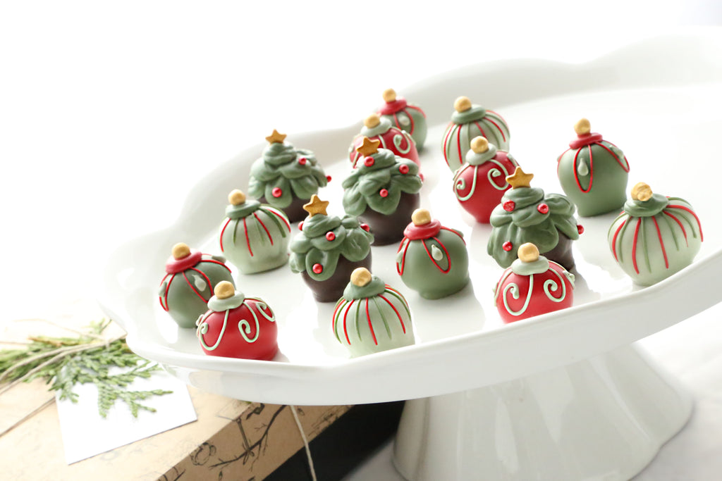 Cordial Cherries ~ 16-Piece Gift ~ Christmas Trees and Ornaments