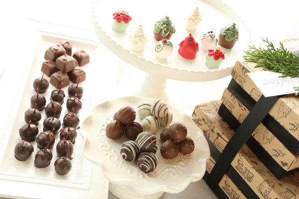 Chocolate Truffles ~ 4-Tier Gift Tower ~ Christmas Garden
