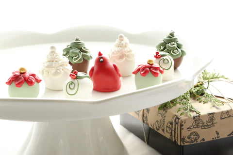Chocolate Truffles ~ 9-Piece Gift ~ Christmas Garden