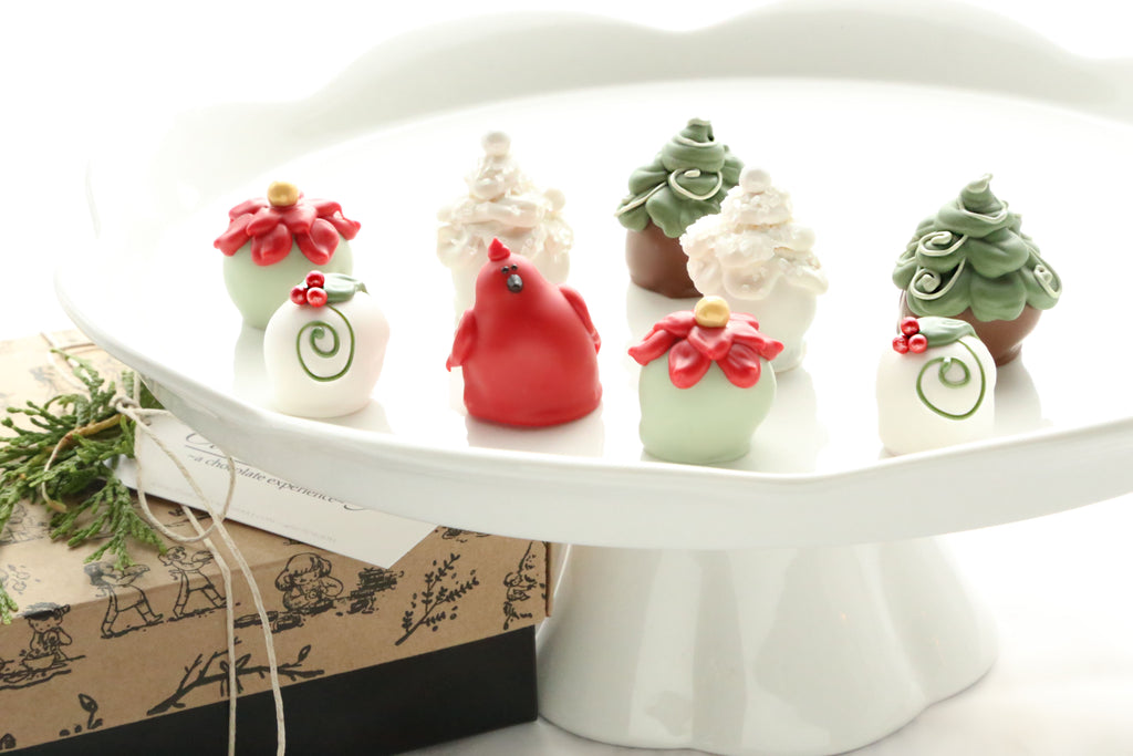 Cordial Cherries ~ 9-Piece Gift ~ Christmas Garden