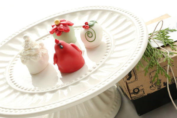 Chocolate Truffles ~ 4-Piece Gift ~ Christmas Garden