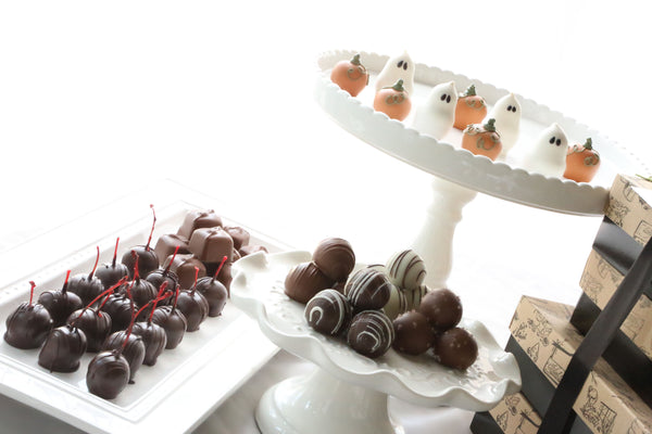 Cordial Cherries ~ 4-Tier Gift Tower ~ Pumpkins and Ghosts