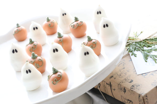 Chocolate Truffles ~ 16-Piece Gift ~ Pumpkins and Ghosts