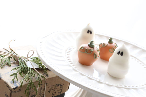 Cordial Cherries ~ 4-Piece Gift ~ Pumpkins and Ghosts