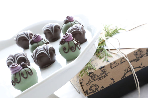 Chocolate Truffles ~ 9-Piece Gift ~ Spiders and Webs