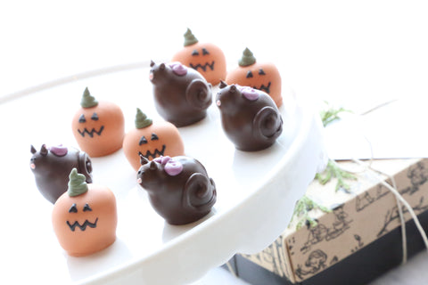 Chocolate Truffles ~ 9-Piece Gift ~ Black Cats and Jack-O-Lanterns