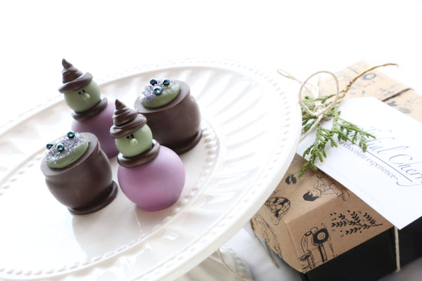 Chocolate Truffles ~ 4-Piece Gift ~ Witches and Brew