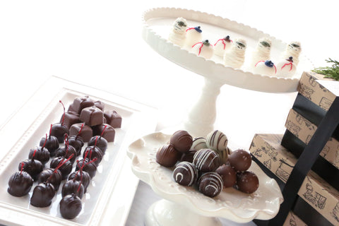 Cordial Cherries ~ 4-Tier Gift Tower~ Mummies and Eyeballs