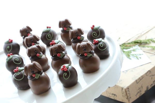 Chocolate Truffles ~ 16-Piece Gift ~ Christmas Puppies