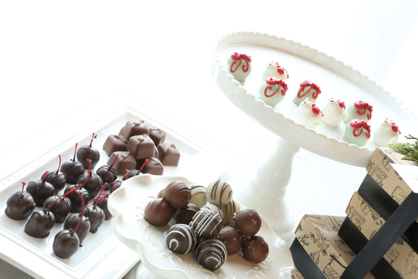 Chocolate Truffles ~ 4-Tier Gift Tower ~ Christmas Kittens