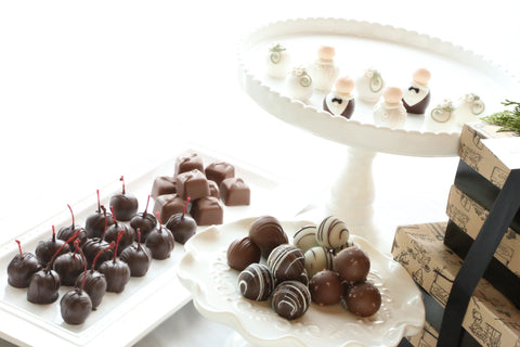 Chocolate Truffles ~ 4-Tier Gift Tower ~ Wedding Bride and Groom