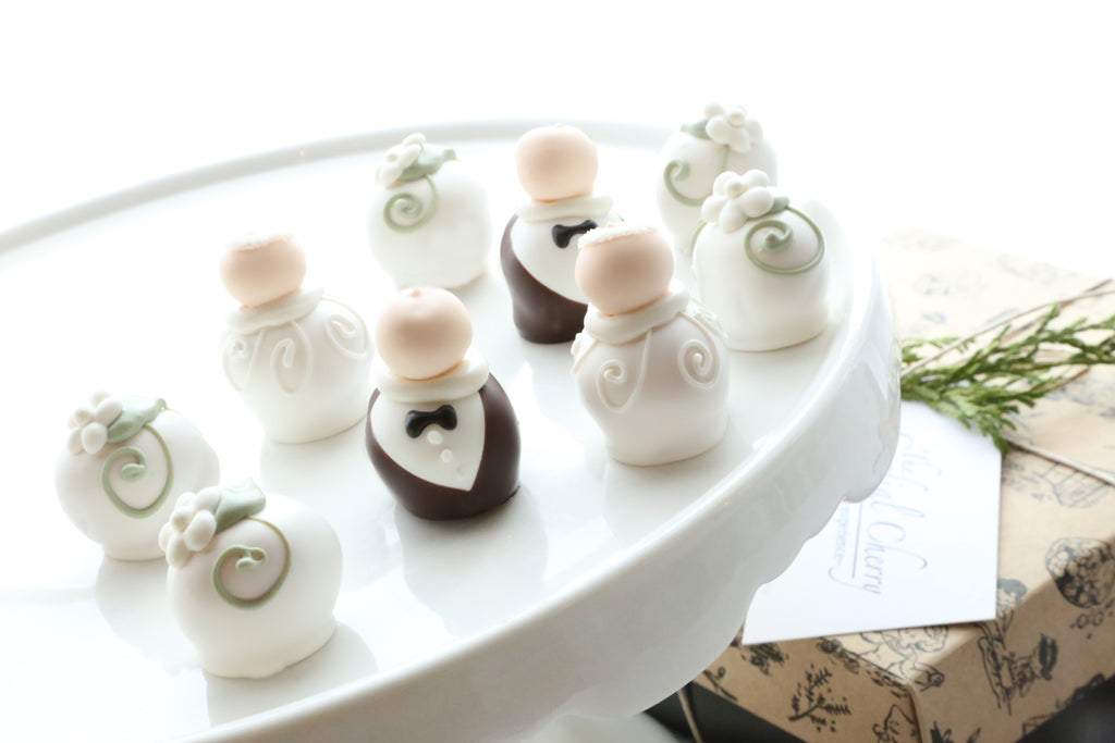 Chocolate Truffles ~ 9-Piece Gift ~ Wedding Bride and Groom