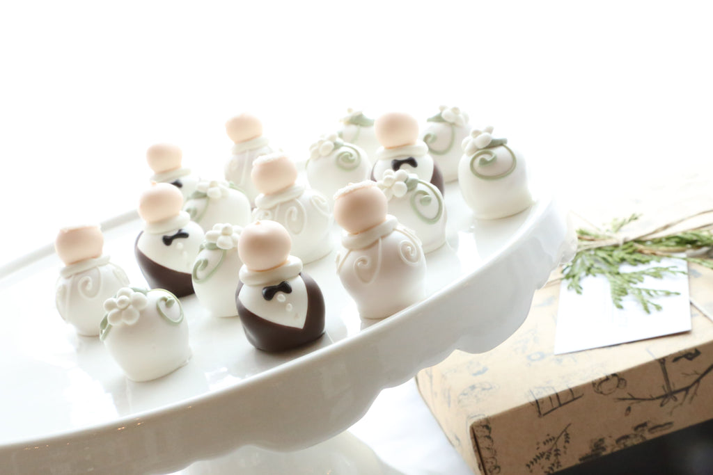 Chocolate Truffles ~ 16-Piece Gift ~ Wedding Bride and Groom