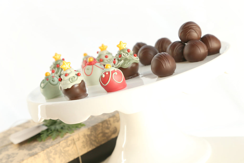 16-Piece Christmas Trees and Ornaments Cordial Cherries with Chocolate Truffles