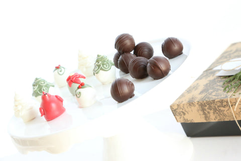 16-Piece Christmas Garden Cordial Cherries and Chocolate Truffles