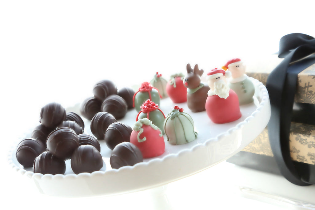Two-Tier Gift ~ Christmas Eve Cordial Cherries and Chocolate Truffles
