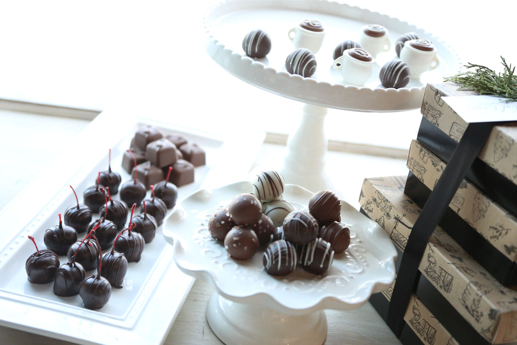 Chocolate Truffles ~ 4-Tier Gift Tower ~ Coffee Cups