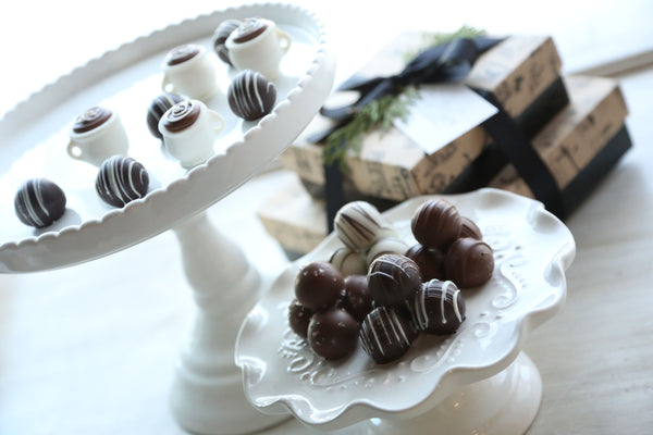 Chocolate Truffles ~ 2-Tier Gift Tower ~ Coffee Cups