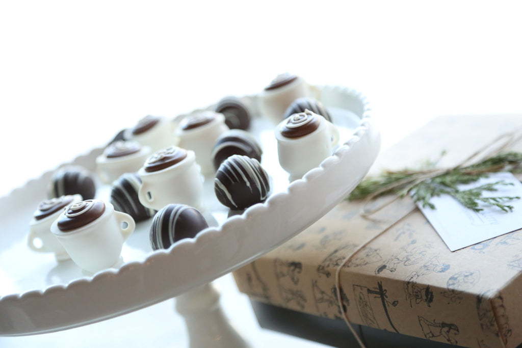 Chocolate Truffles ~ 16-Piece Gift ~ Coffee Cups