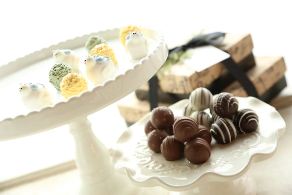 Chocolate Truffles ~ 2-Tier Gift Tower ~ Kittens and Balls of Yarn