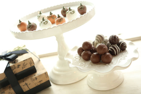 Chocolate Truffles ~ 2-Tier Gift Tower ~ Harvest Pumpkins