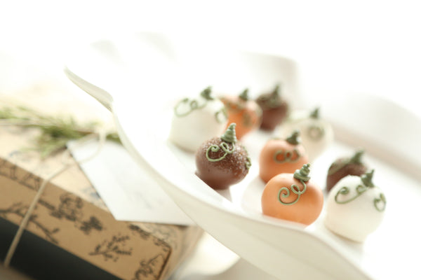 Chocolate Truffles ~ 9-Piece Gift ~ Harvest Pumpkins