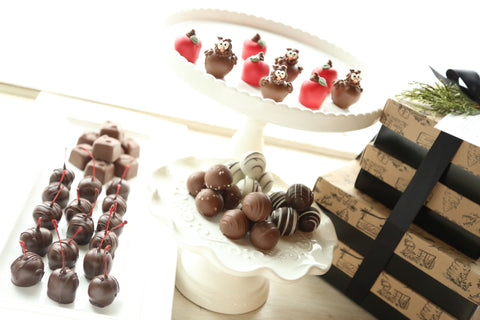 Chocolate Truffles ~ 4-Tier Gift Tower ~ Apples and Owls